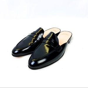 J. Crew Academy Penny Loafers Mules Patent Leather